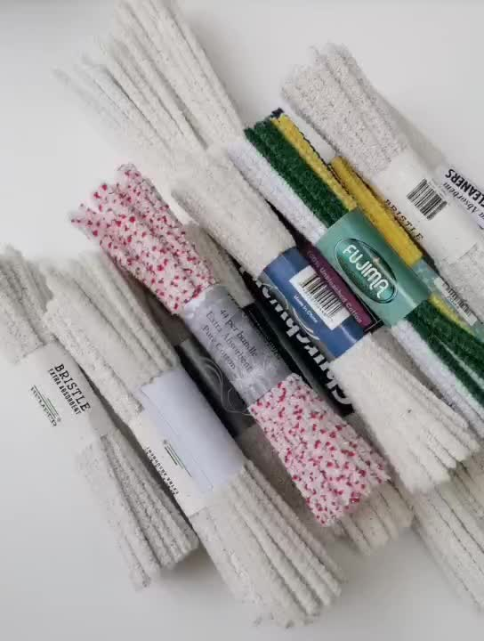 नरम प्राकृतिक सफेद सूती पाइप क्लीनर सफाई के लिए पाइप