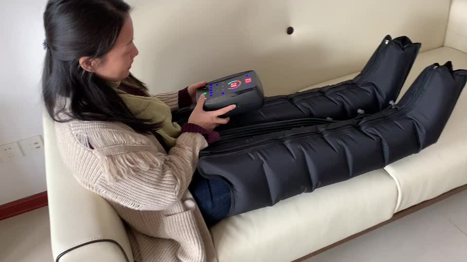 Best 6 chamber portable rechargeable battery pulse air compression massage recovery boots for runners