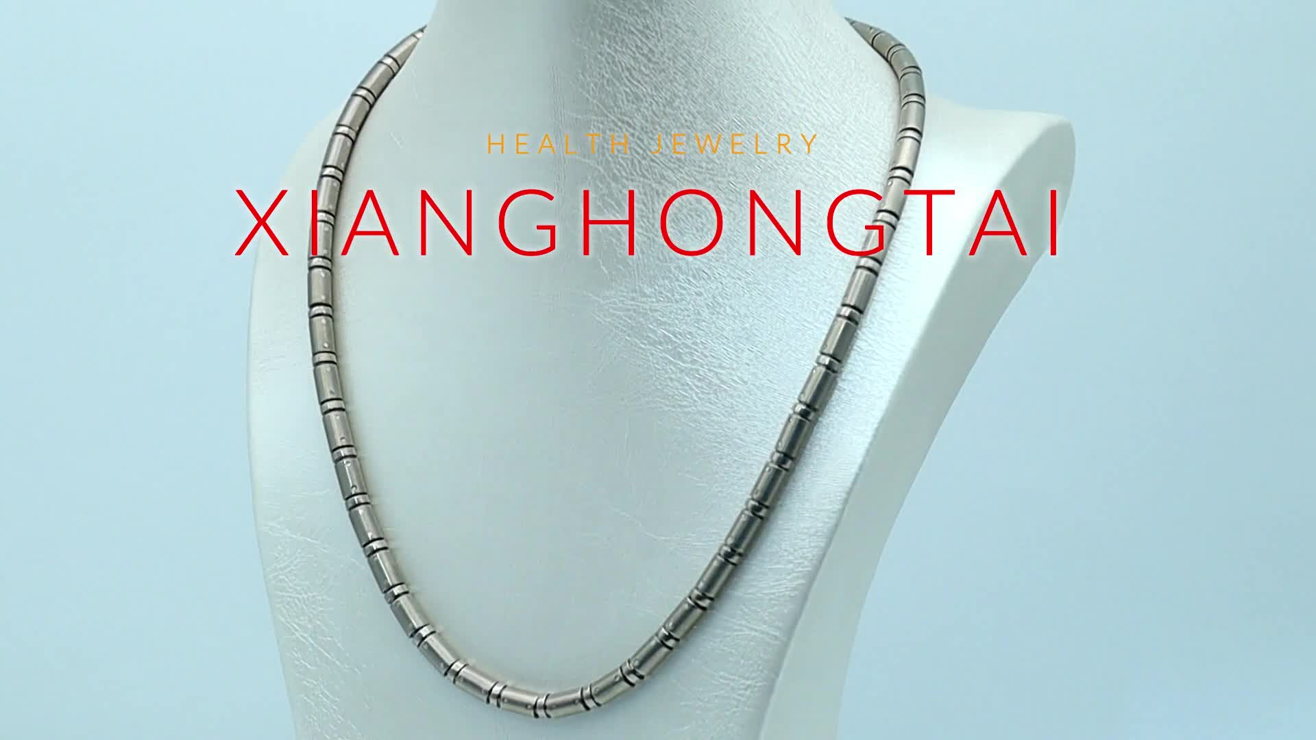 Titanium 316L Stainless Steel Bio Magnetic Negative ion Necklace