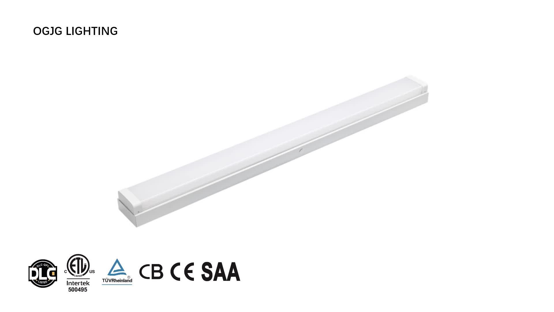 DLC ETL Approval IP44 junction box batten fixture corridor suspended surface mounted 20w 40w 60w pendant led linear light