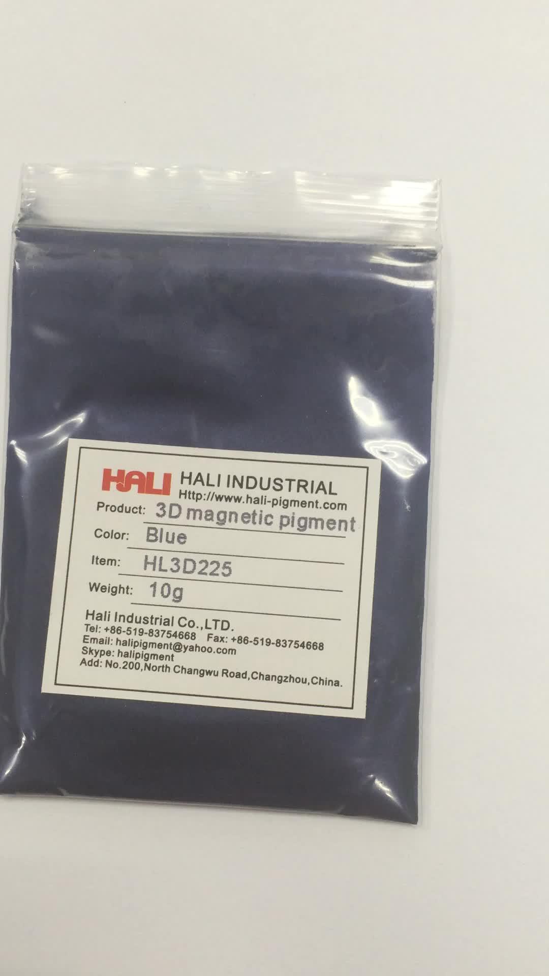 3d magnetic pigment,cat eye magic powder,stereoscopic effect,item:HL3D225,color:blue
