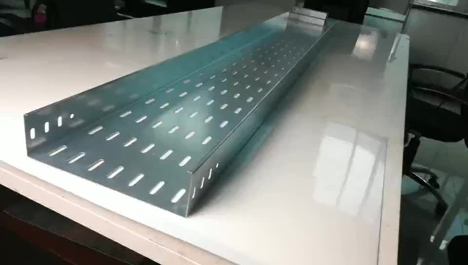 Qinkai Steel Wire Mesh Cable Tray Perforated Ladder Type Cable Tray