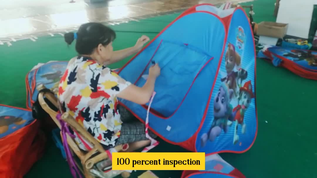 ALDI Hot Selling Pop-up Outdoor Three Sets Children Playing Tunnel With Tent