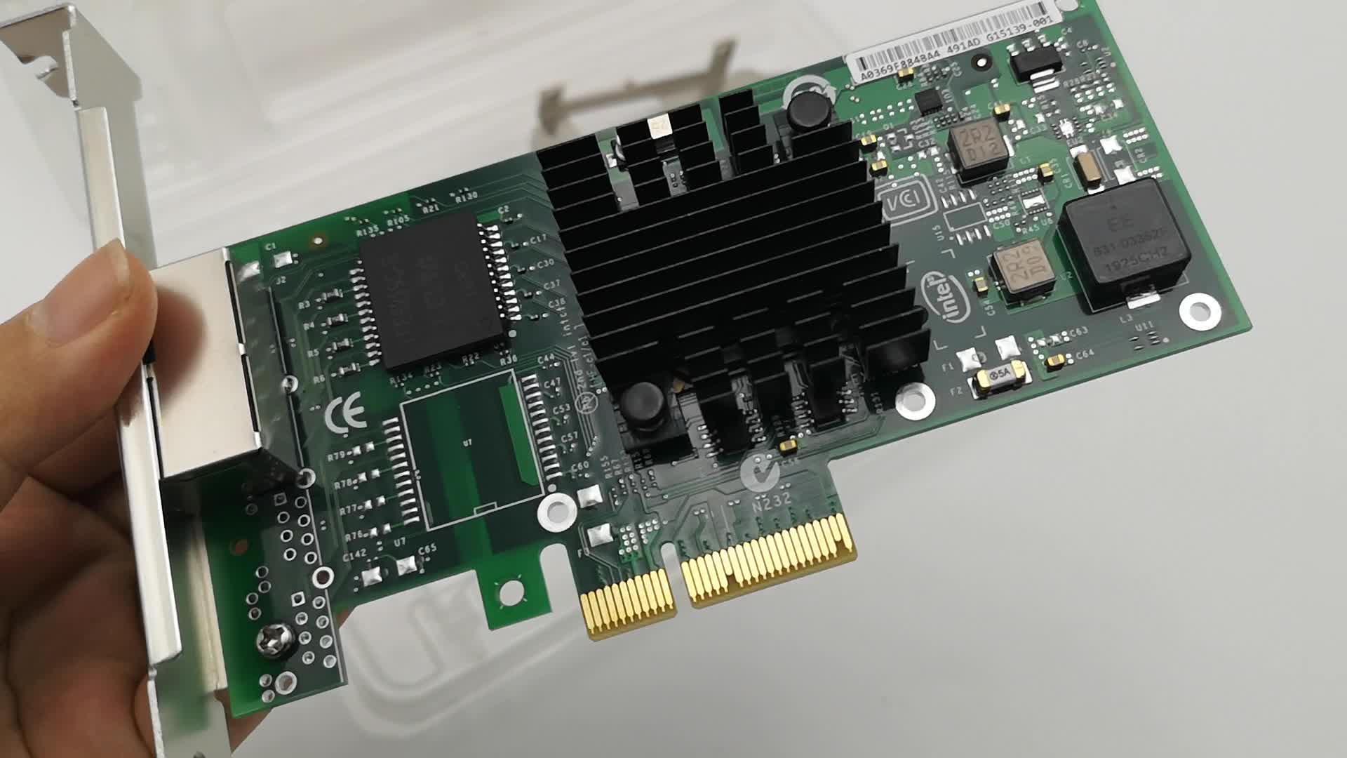 2 Port Network Adapter Intel I350-T2V2 10/100/1000Mbps I350 Ethernet Network Card Server NIC PCIE