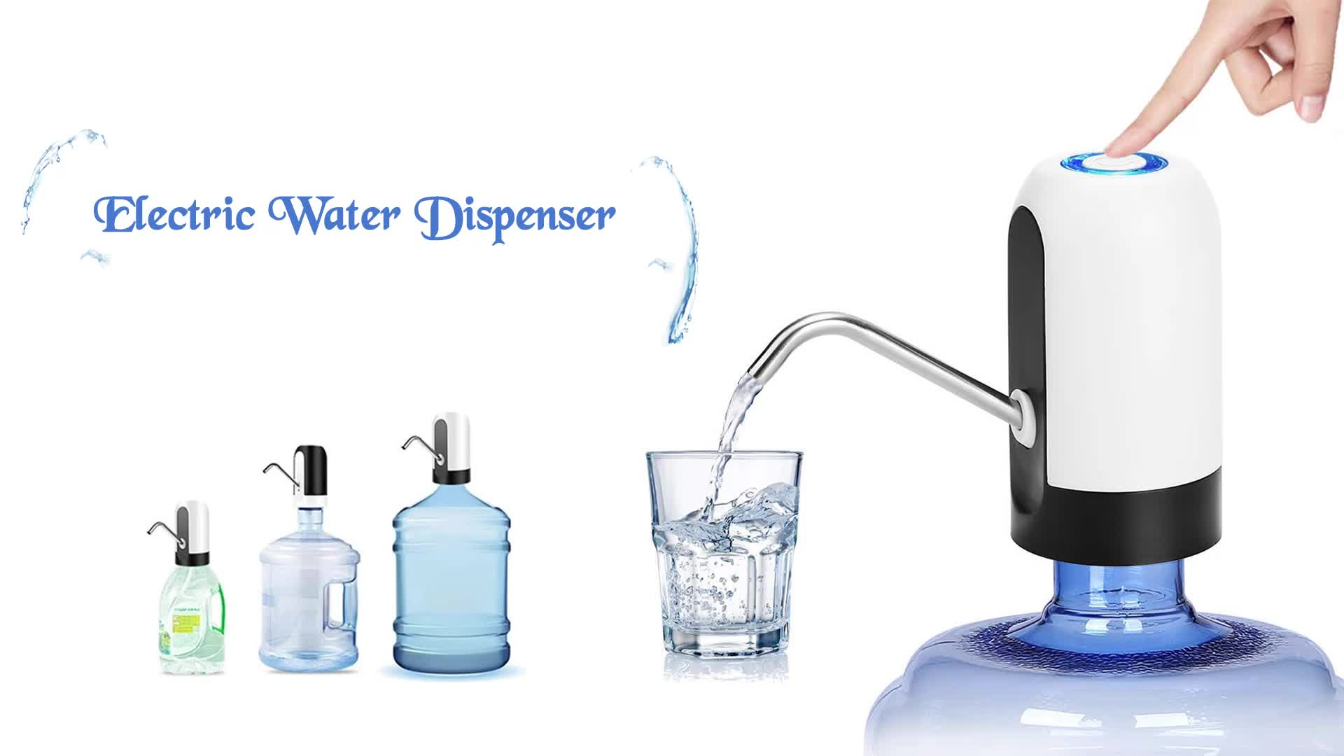 Automatic Mini Bottle Pump Drinking Fountain Hot Cold Water Dispenser