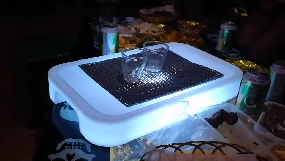 led bar wine tray champagne portable luminous led ice bucket
