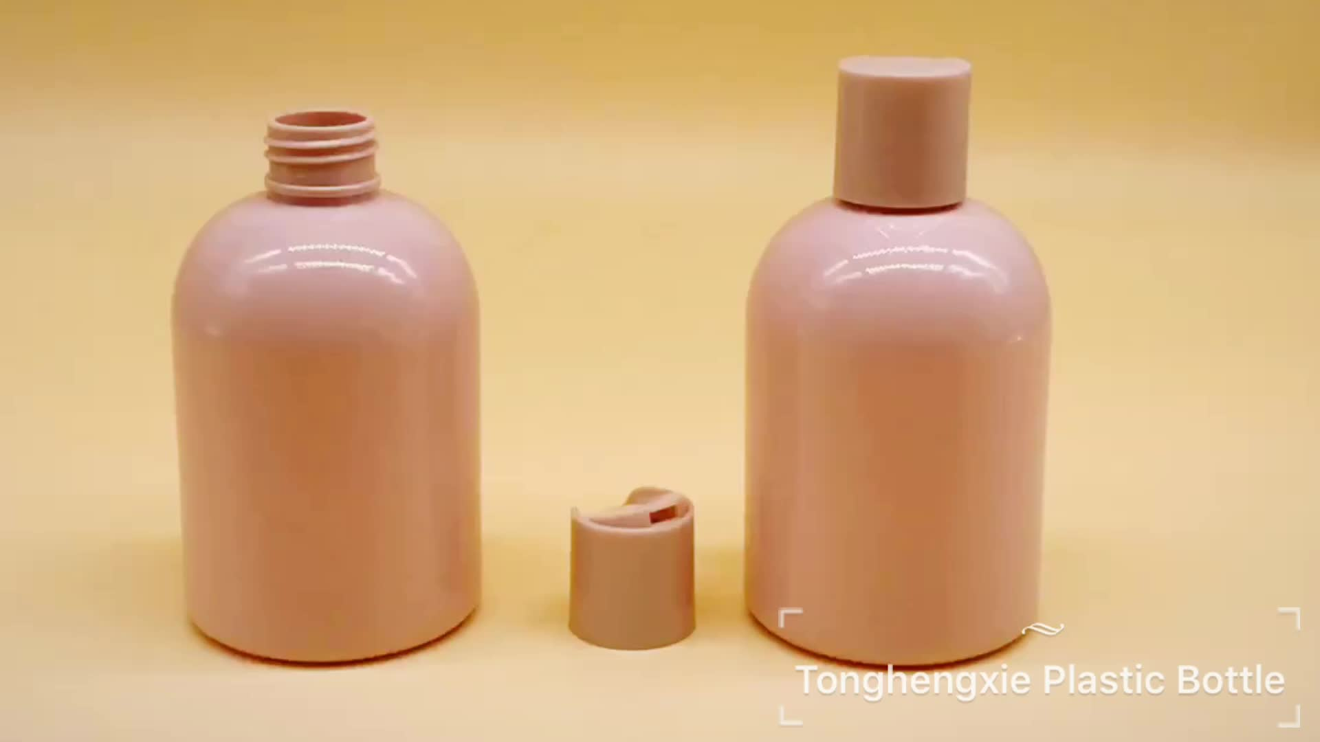 Manufacture Pharmaceutical empty PET 250ml plastic shampoo bottle with disc top lid
