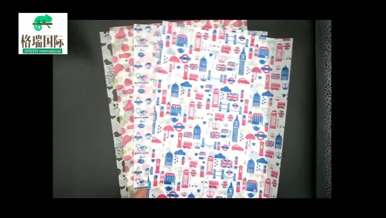 Backen pergament papier abgerundete wasserdichte verpackung papier braun pergament papier