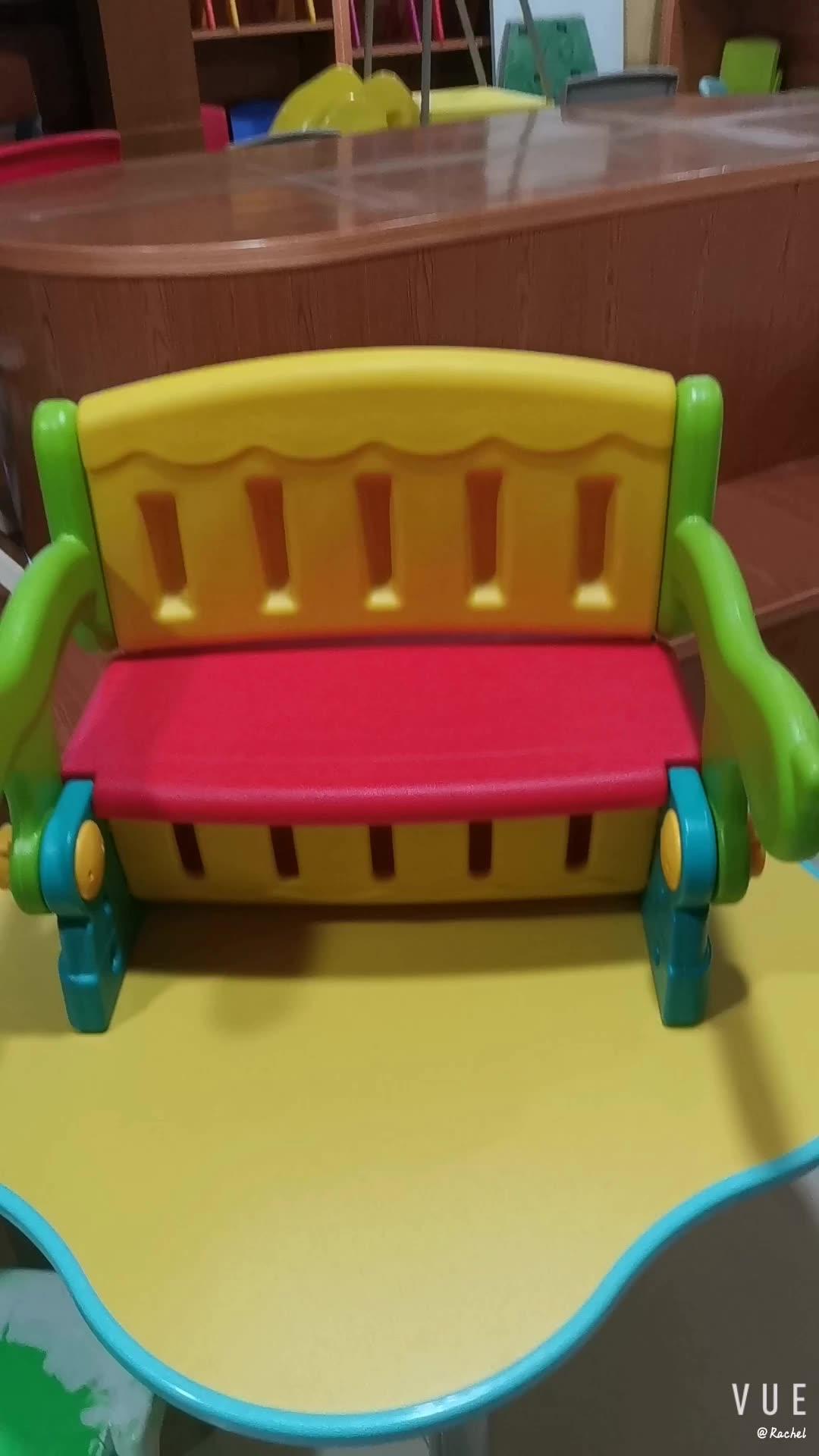 Nieuwe Ontwerp Interessante Multifunctionele Kinderkamer Meubels Kinderen Plastic Opklapbare Tafel En Stoel