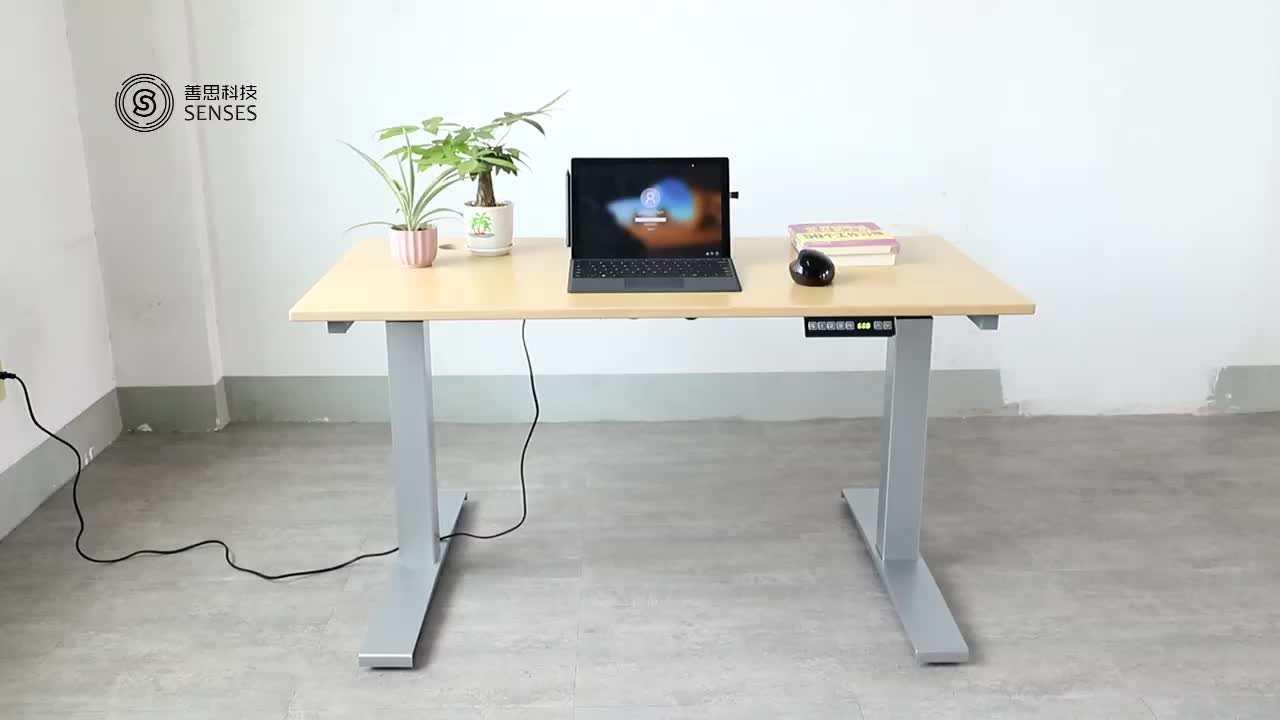 Customized adjustable height electric stand up desk frame lift table
