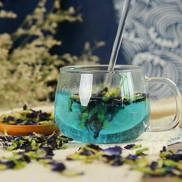 Échantillons Gratuits Bleu Séché Fleur de Pois de Papillon Pour Le Thé Pour Améliorer La Vue