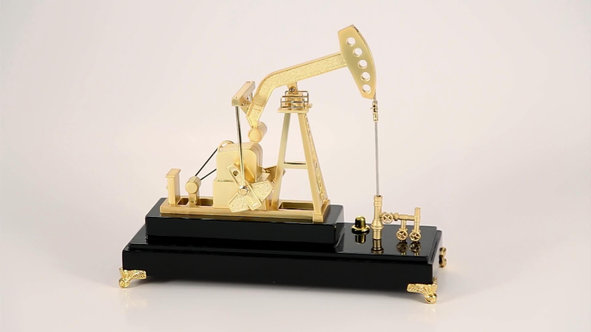해양 플랫폼 황금 오일 기계 선물 유리 커버