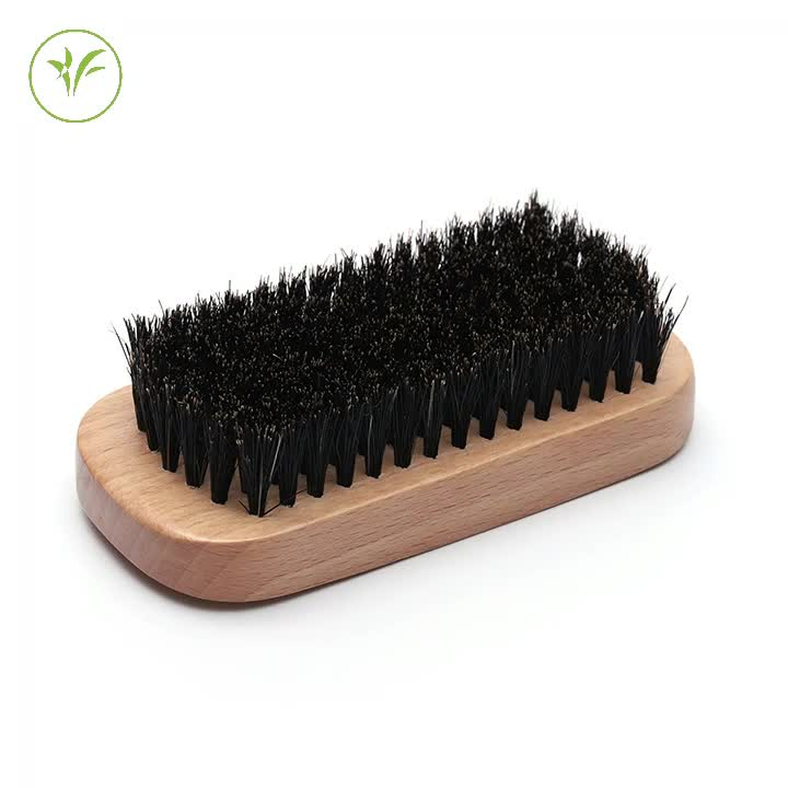 custom logo Lotus black wooden 100% soft boar bristle barber Beard Brush for men