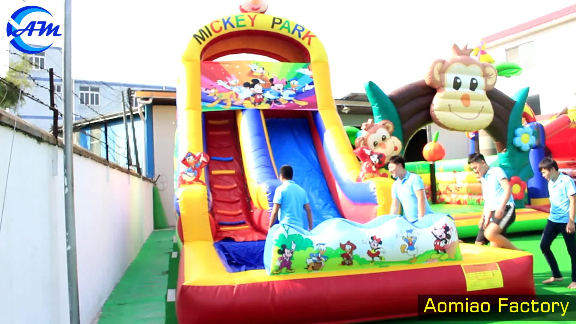 2019 new point china cheap big wet inflatable slide for pool for children and adult