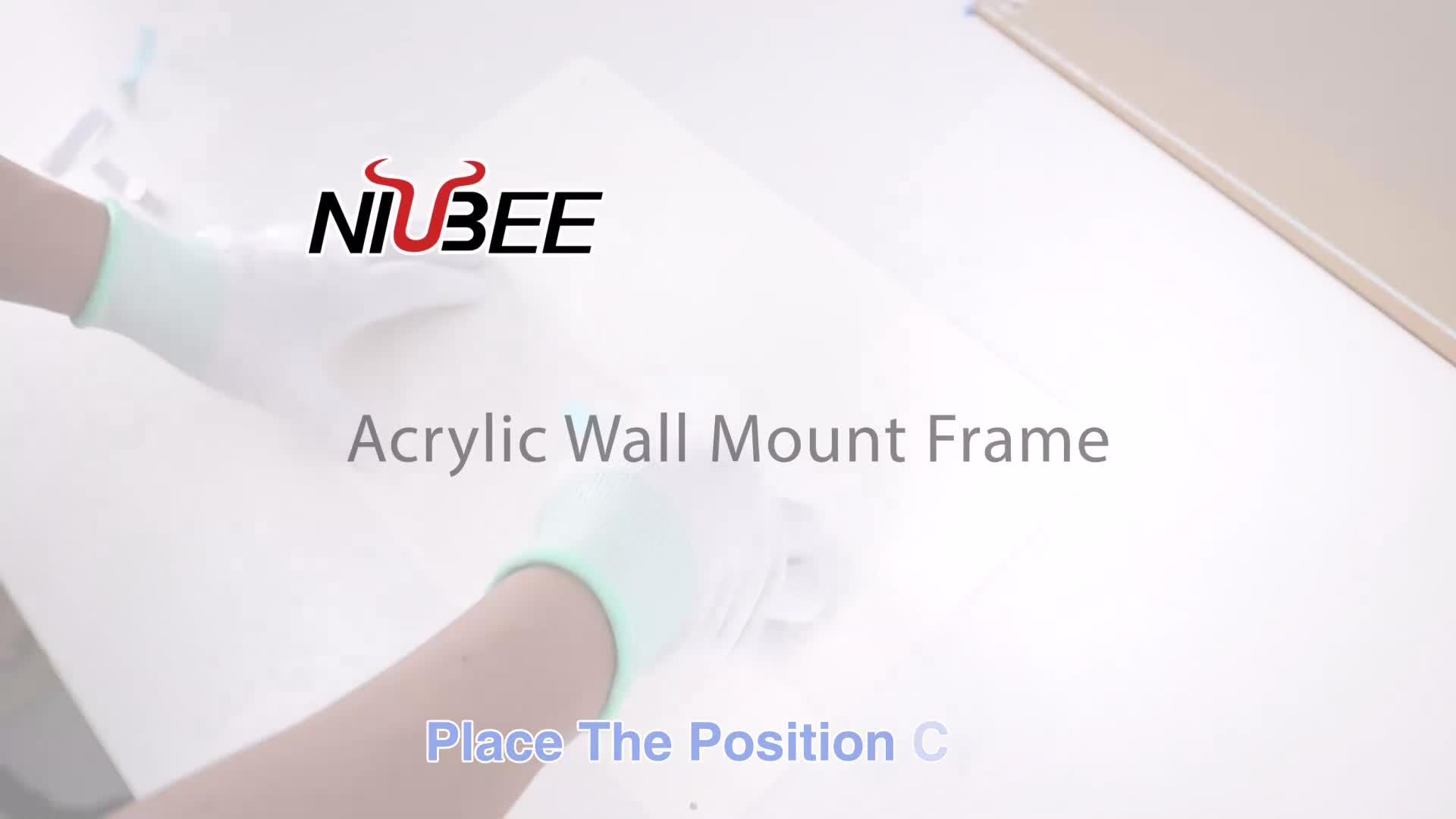 Acryl muur fotolijst 12x12 frames