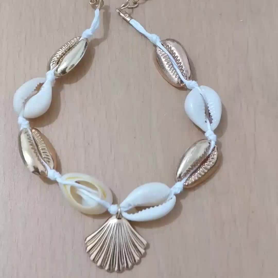 Simple Scallop Boho Sexy Handmade Female Ethnic Wind Adjustable Barefoot Shell Charm Beach Footchain Anklet