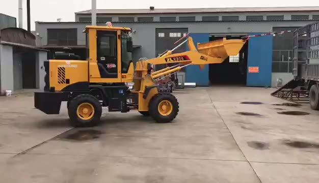 DO-910 Small electric forklift/Four-wheel drive electric loader used for light shoveling and digging of ore and hard soil