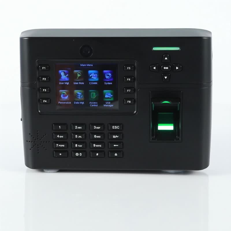 Optional GPRS wifi standalone and network biometric access control fingerprint reader with backup battery and camera(TFT900)