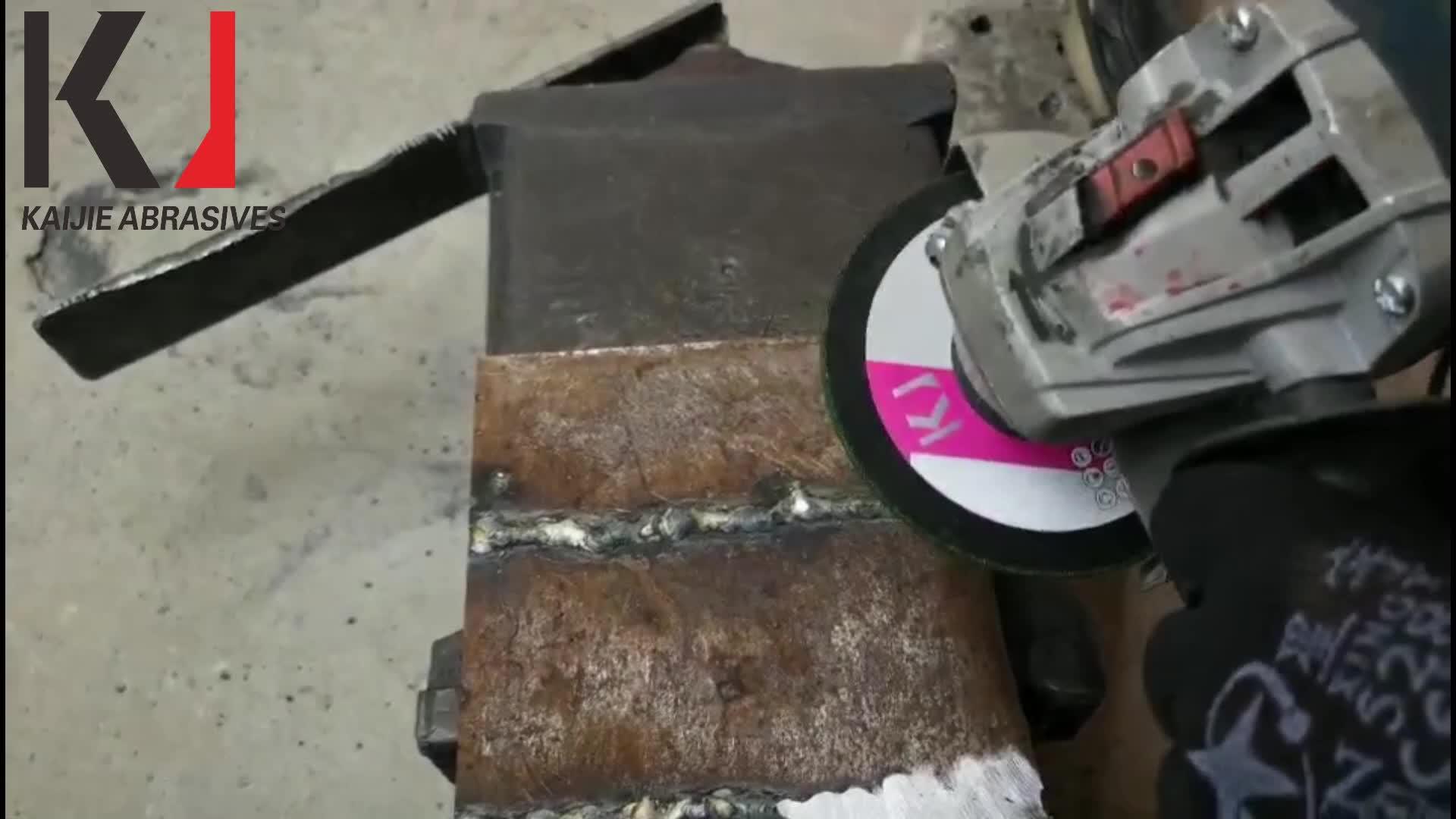 4in 102x2,7x16mm China Fabrik Direkt Verkauf Harz Verbundene Flexible Inox Edelstahl Schleifen Disc Schleifen rad für Amerika