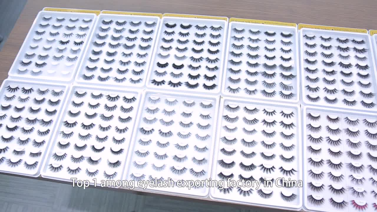 Silk synthetische falsche Wimpern Private Label 3D Faux Mink Eyelash Clear Band