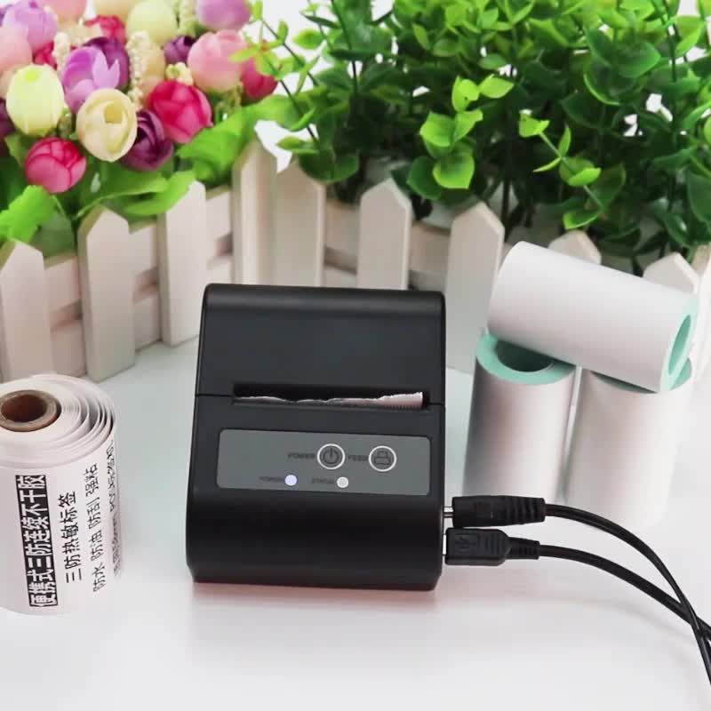10 rolls Mobile bluetooth thermal printer label rolls for  58mm pos receipt printer free delivery