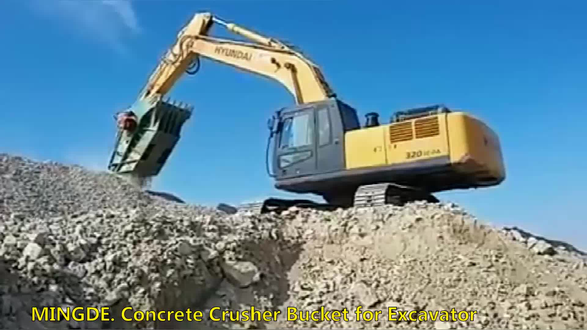Excavator spare  stone jaw crusher bucket for PC240
