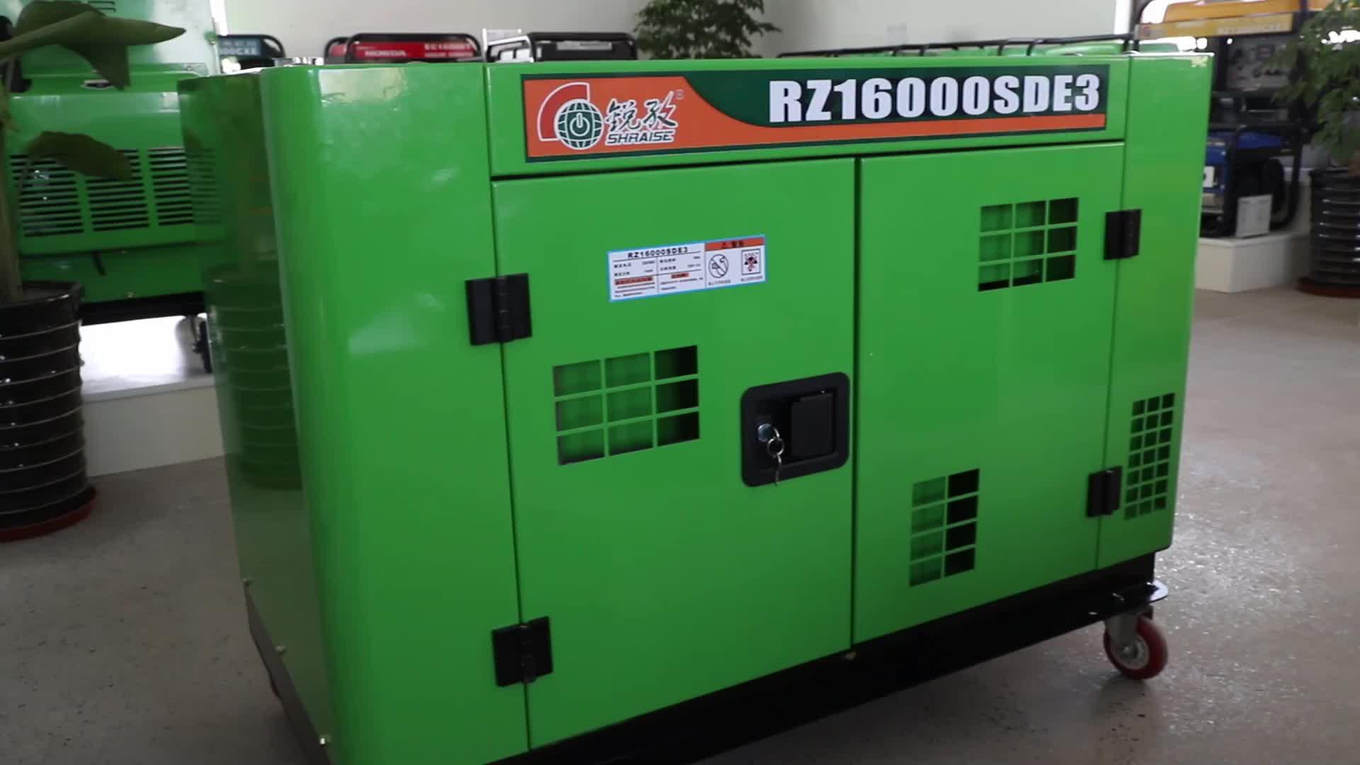 RAISE 10KW silent four wheels portable diesel generator