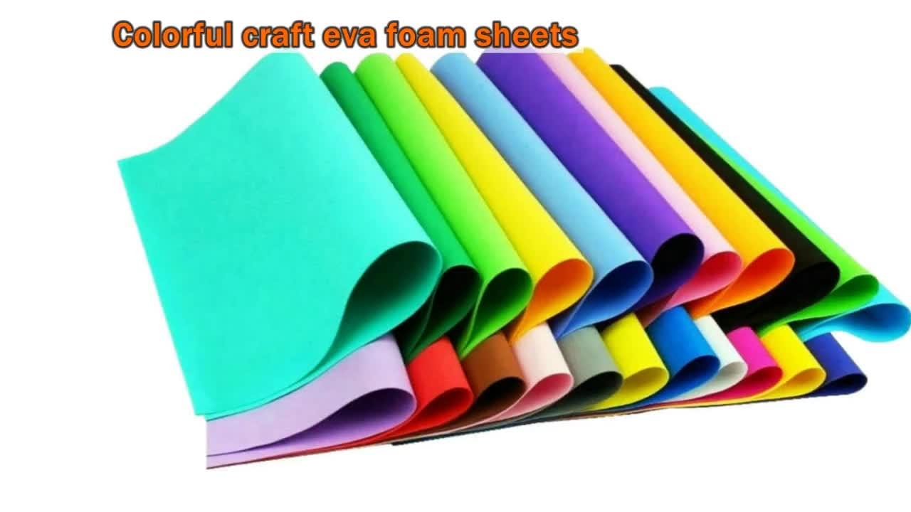 คุณภาพสูง 0.5 มม.1.0 มม.2.0 มม.สี EVA โฟมกระดาษแผ่น