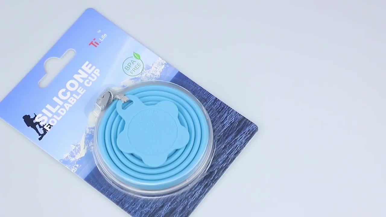 Fábrica de china al por mayor de la FDA de viaje de silicona plegable tazas de café con tapas