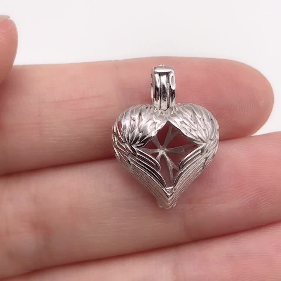 High quality 925 sterling silver heart-shaped silver necklace pendant