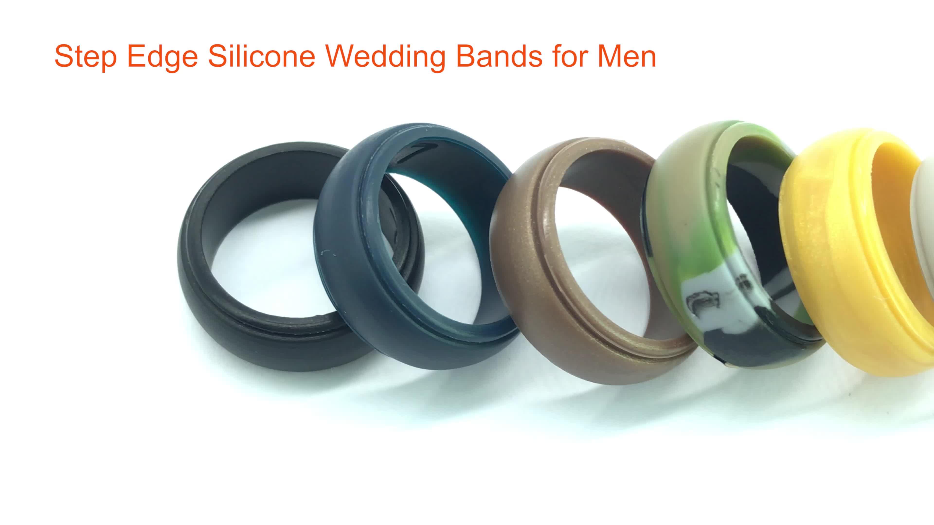 20% 8- Pack Amazon ผู้ขายที่ดีที่สุดแหวนแต่งงานซิลิโคนสำหรับผู้ชาย