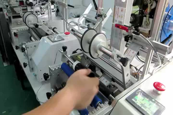 2019 Hot sale Semi automatic round glass perfume bottle labeling machine for factory price