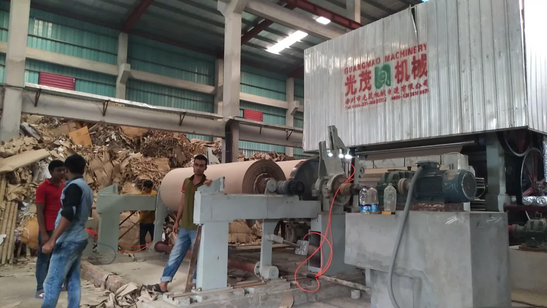 Kağıt geri dönüşüm üretim hattı için fluting kağıt kraft kağıt rulo yapma makinesi fabrikası