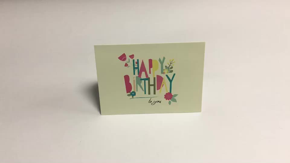 Custom hot sale happy birthday card set with envelopes , funny greeting bard for birthday