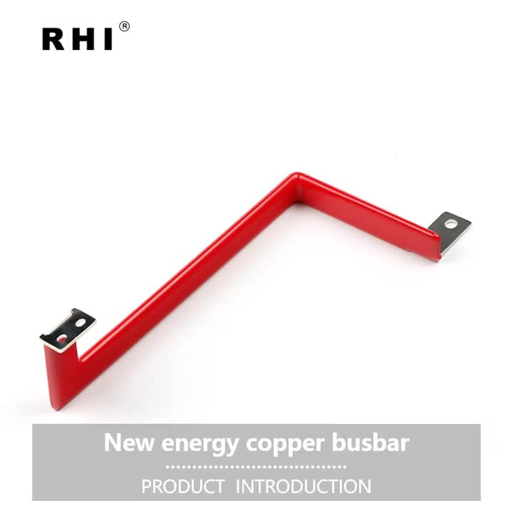 Red and black pvc dipping Electrical copper battery bus bar