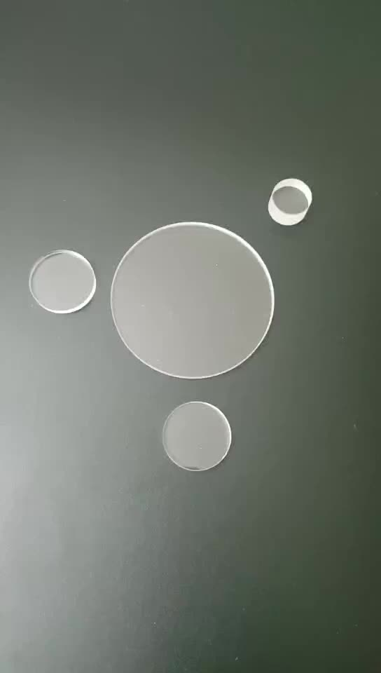SUCCESS Optical Round Clear JGS2 Glass Slides Fused Silica Quartz Disc