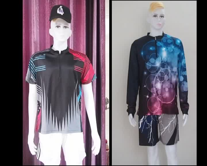 wholesale hot sale custom sublimated bowling jersey cheap team bowling shirts