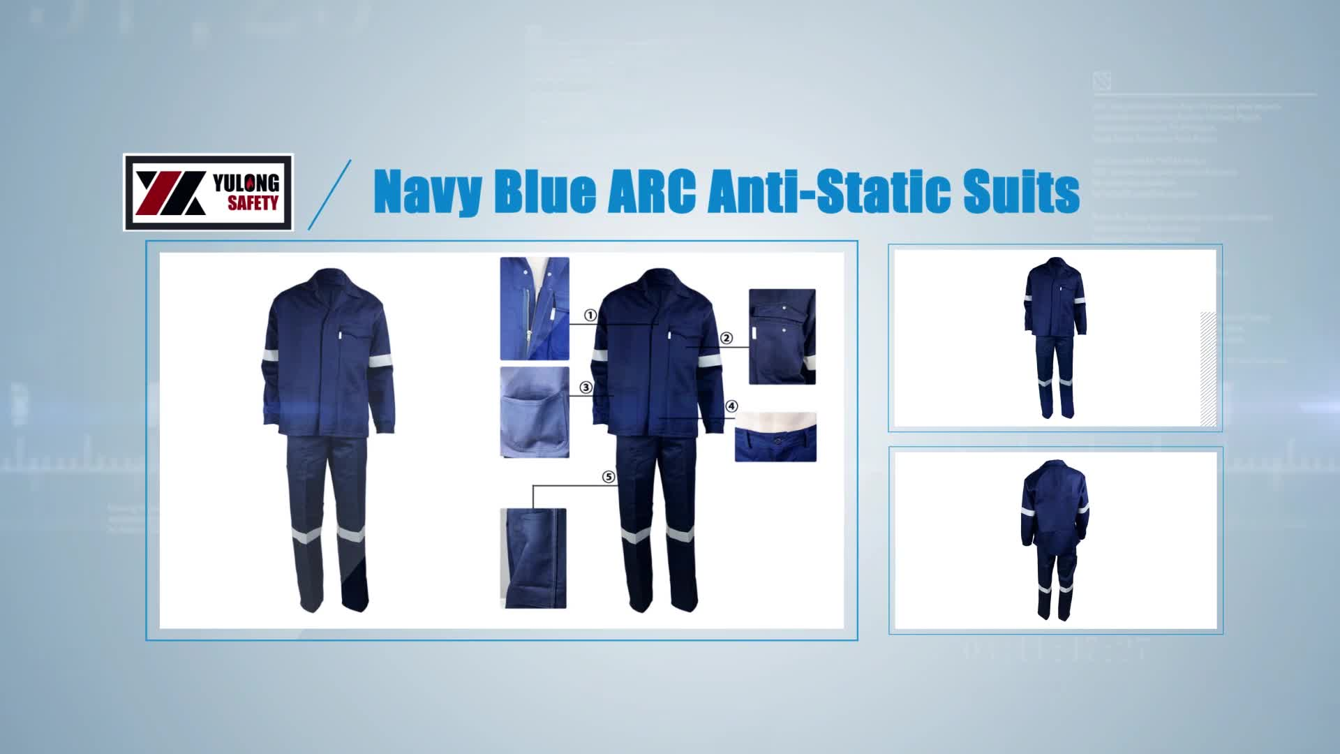 EN11612 Reflective Safety Fr Work Fire Resistant Suits