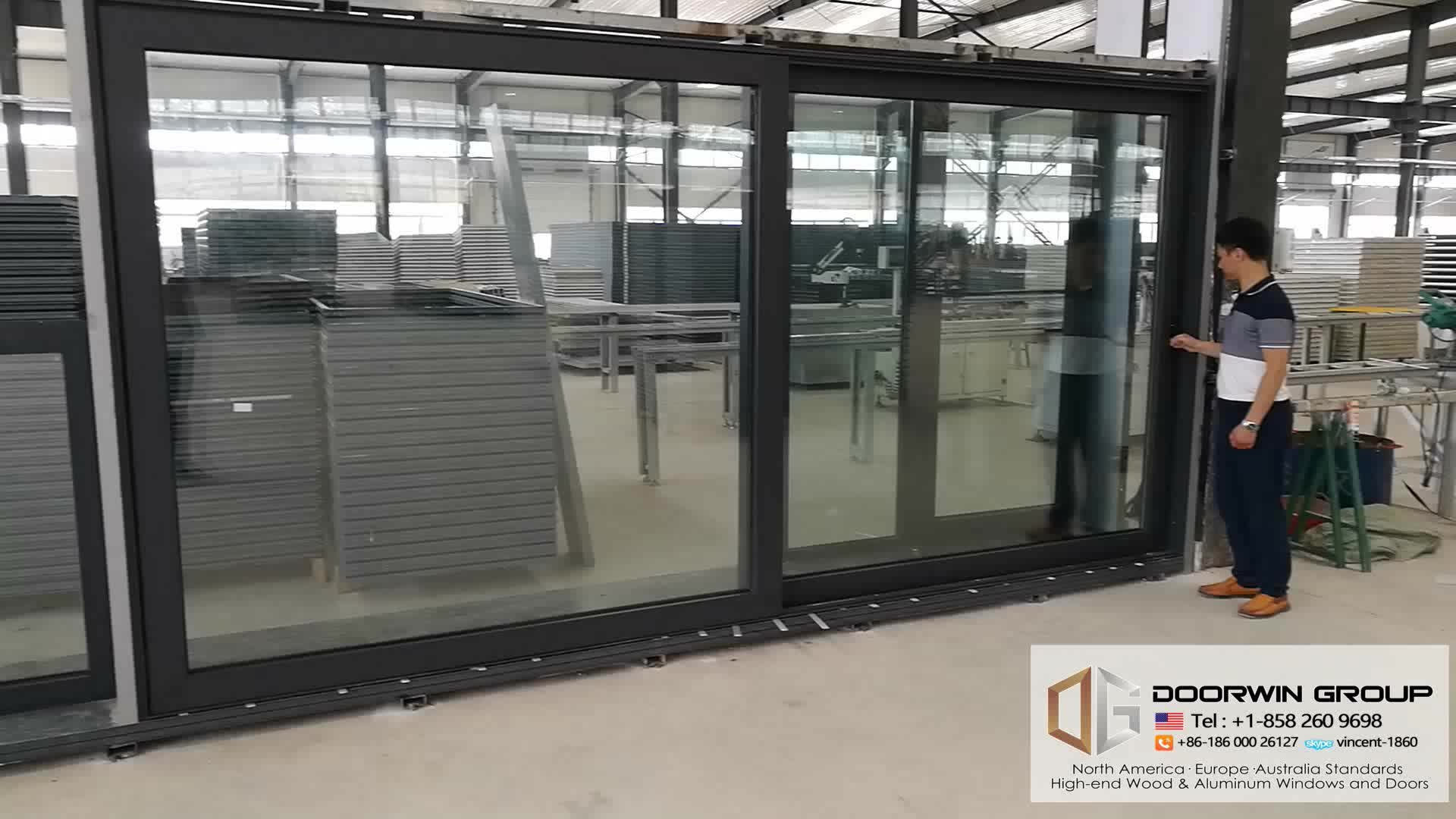 Best selling automatic sliding glass aluminum door