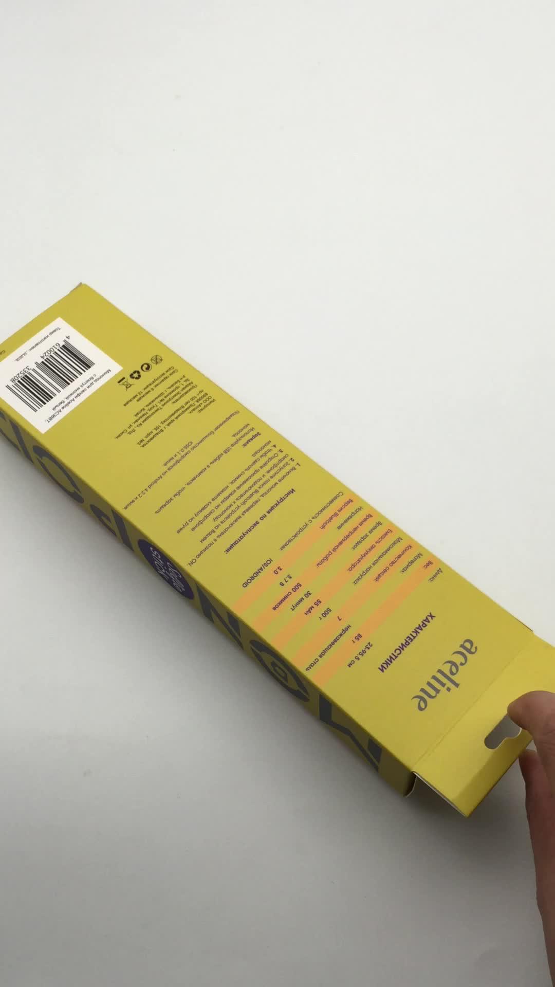 PVC/ PET  Clear window paper box printed box