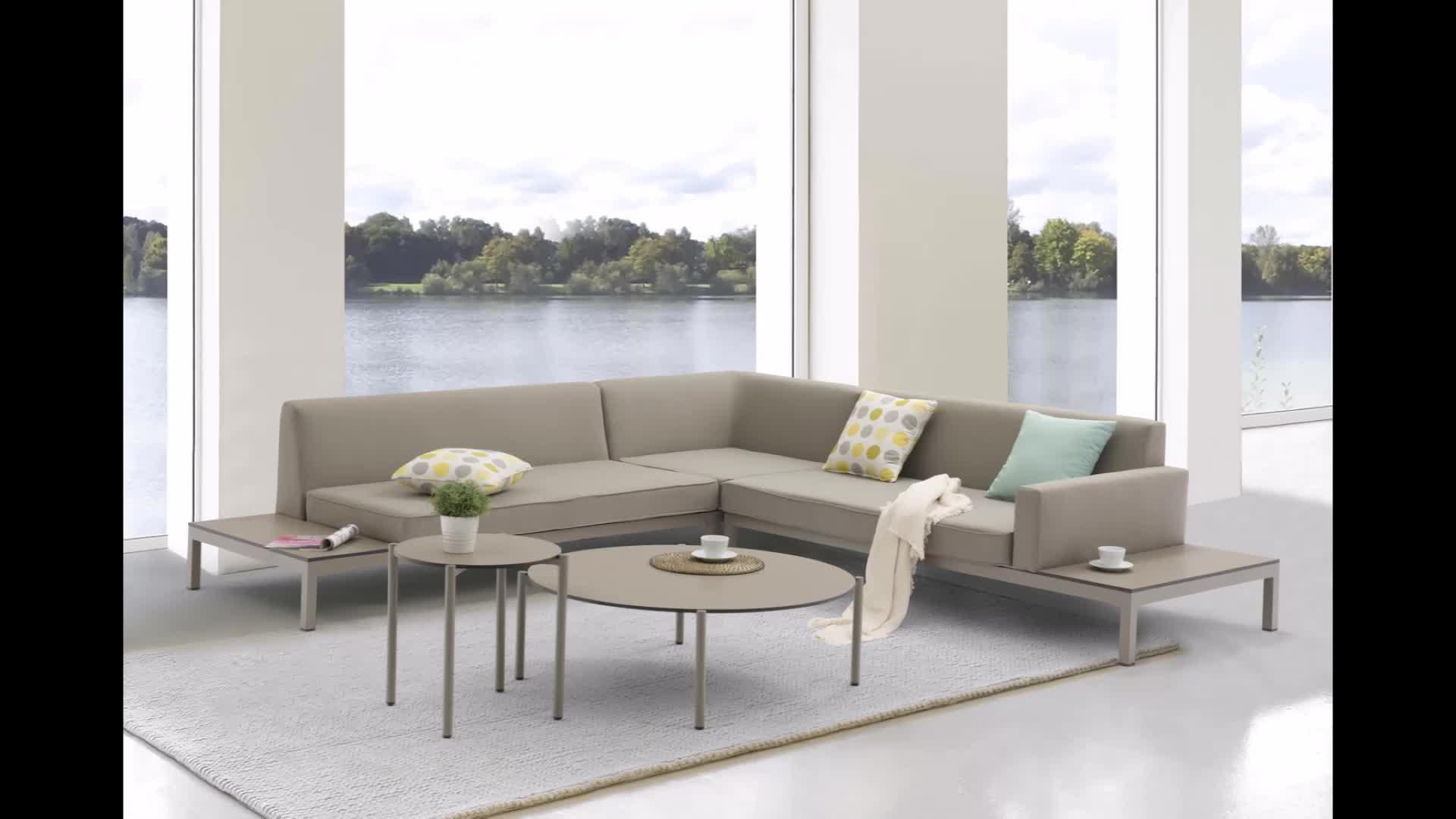 Tophine Mobili mobili da giardino divano set gadern per il tempo libero divano set con cuscini