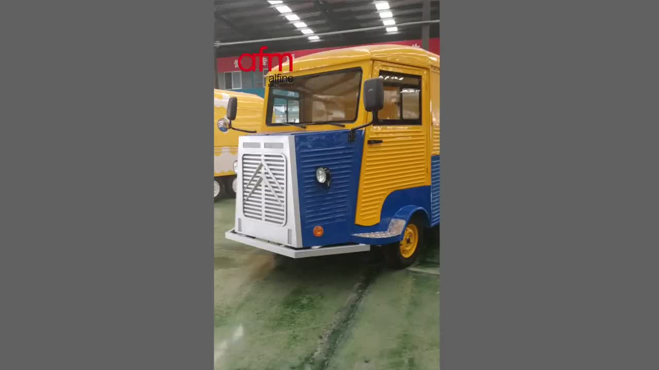 New arrival Durable electric Jalopy style mobile fast food truck
