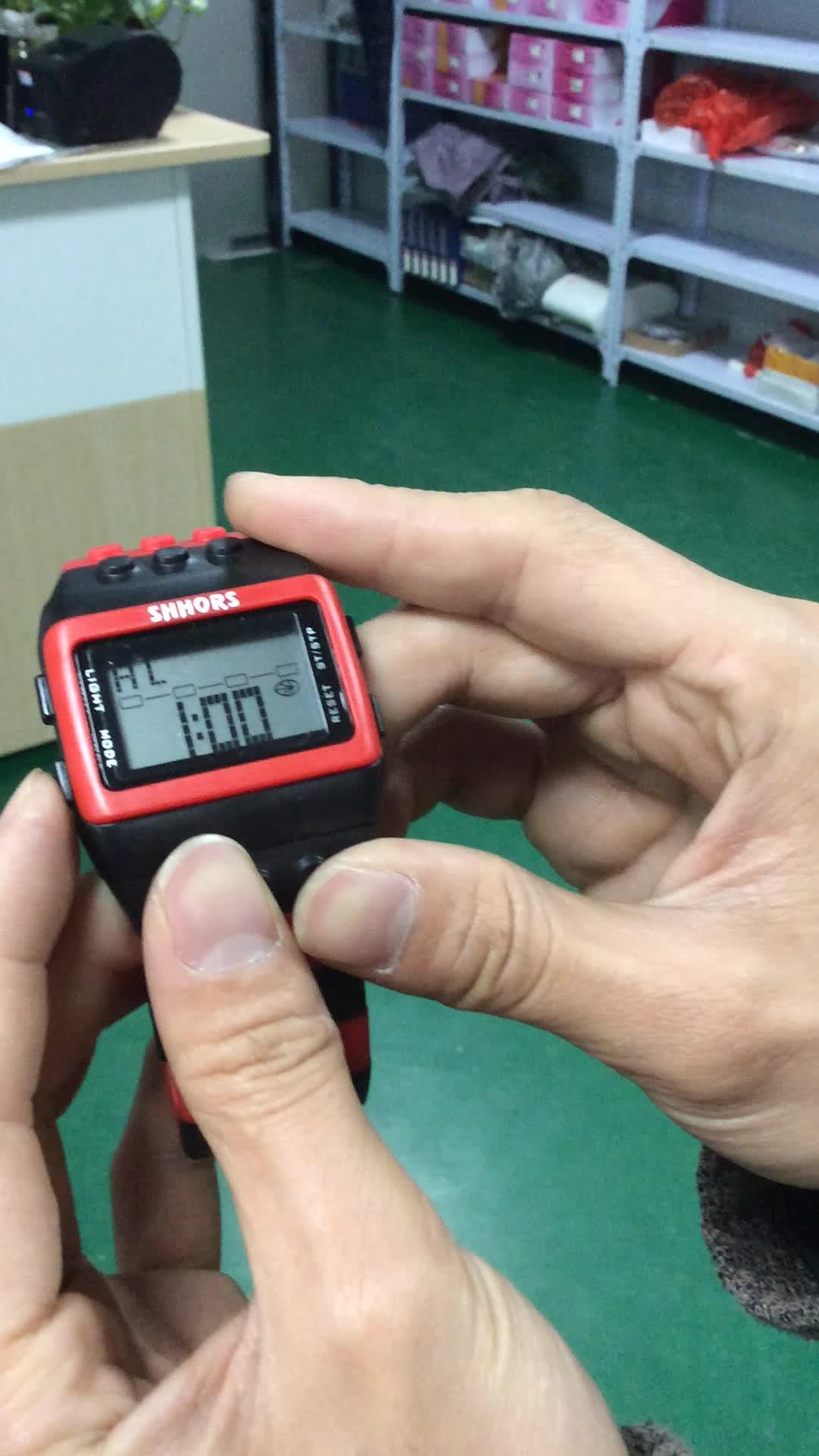 korean digital watch rainbow color plastic belt men digital wristwatch