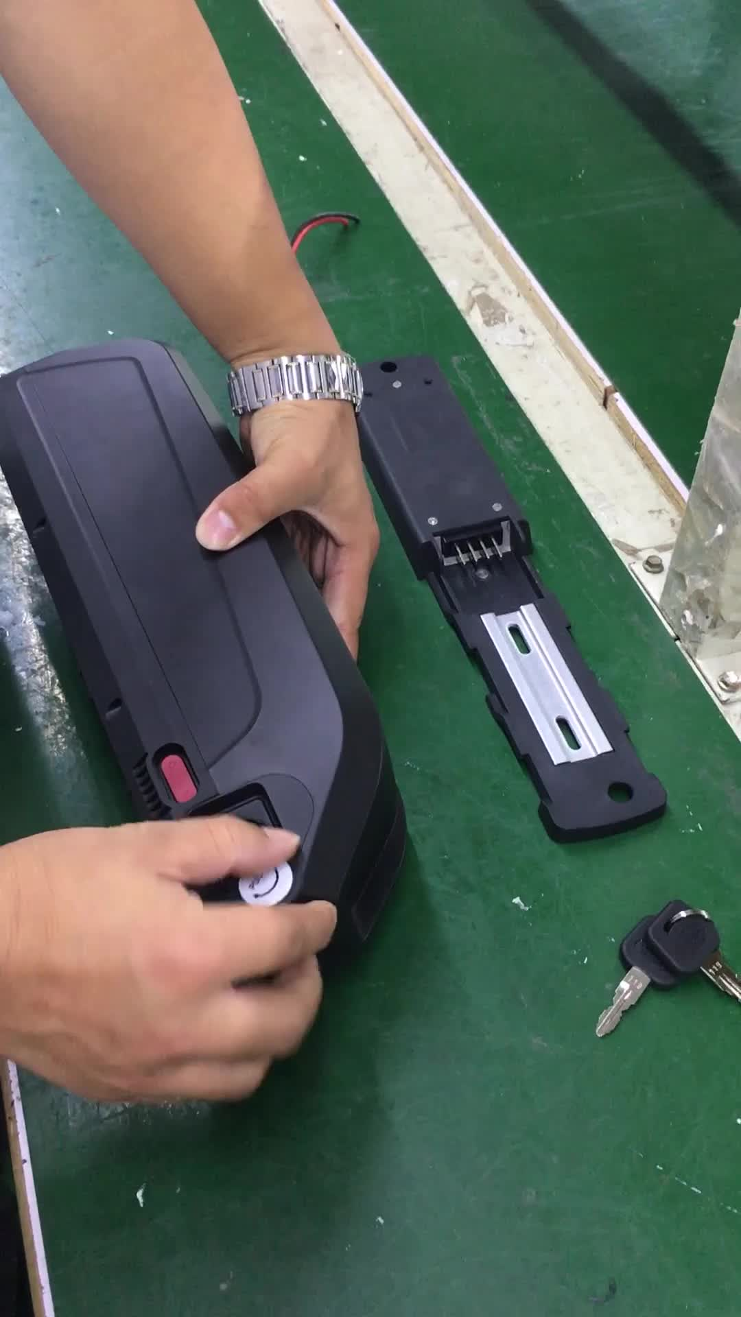 36v 13Ah li-ion rechargeable ebike downtube battery pack with Hailong case