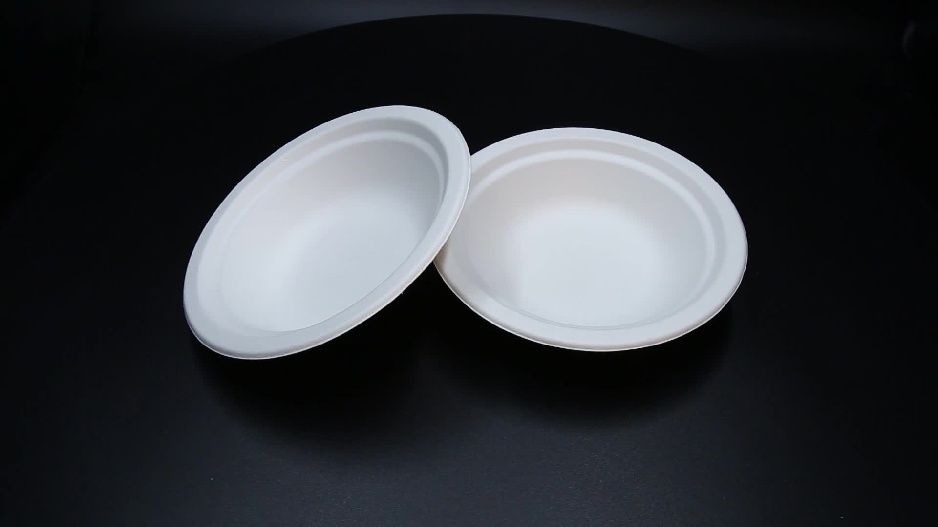 Disposable salad pulp food containers compostable biodegradable sugarcane bagasse bowl