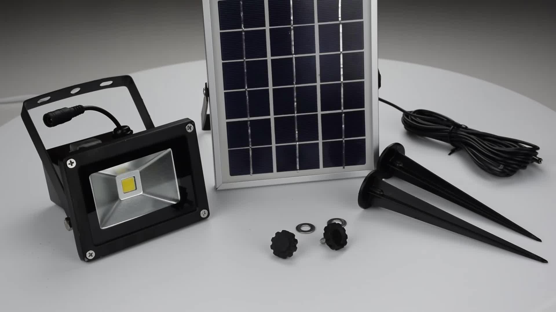 Guangzhou suppliers solar security light energy saving powered led solar light outdoor flood light for garden