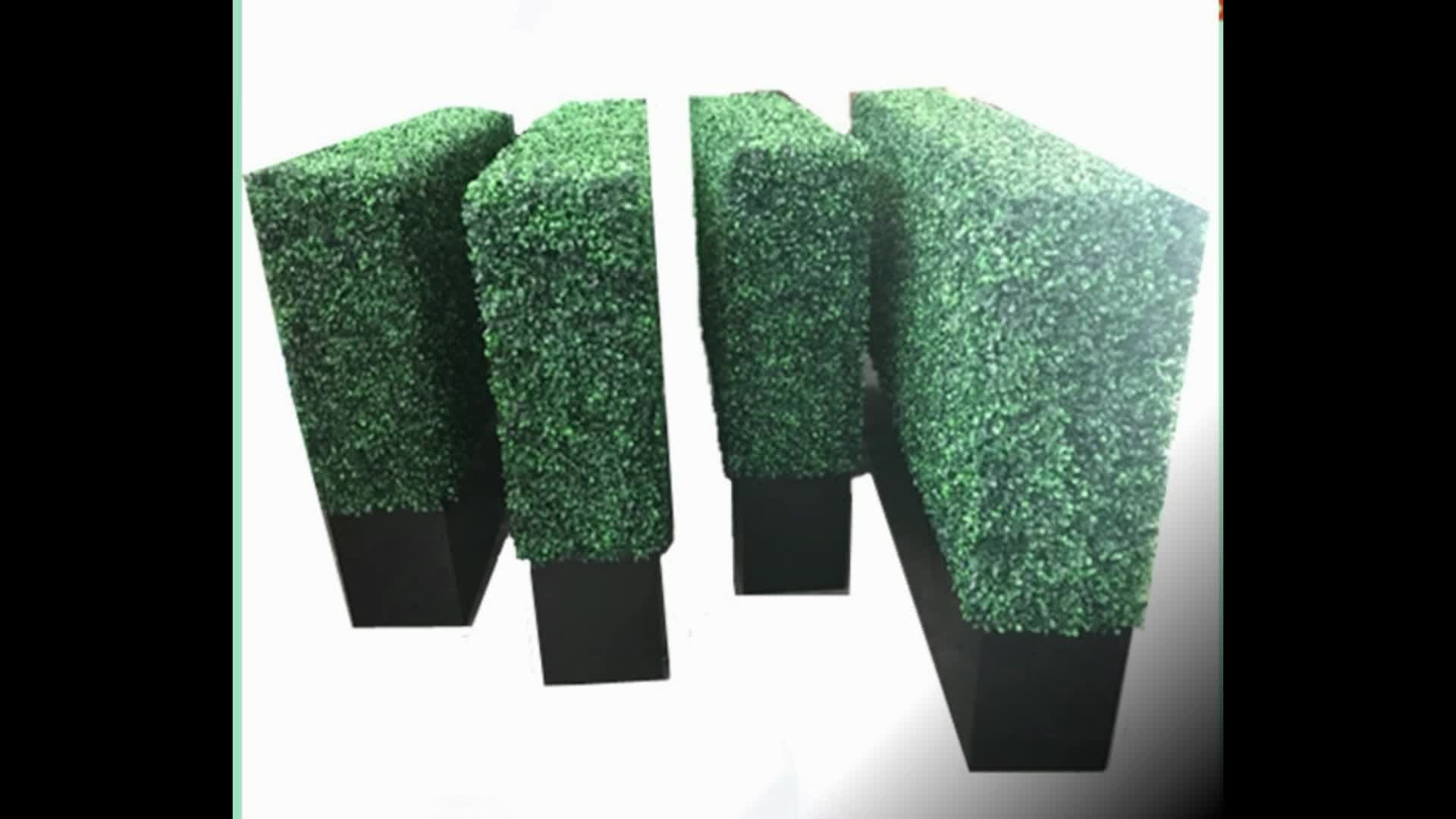 UV a prova di erba bosso muro di recinzione verde artificiale siepe di bosso per la decorazione del giardino