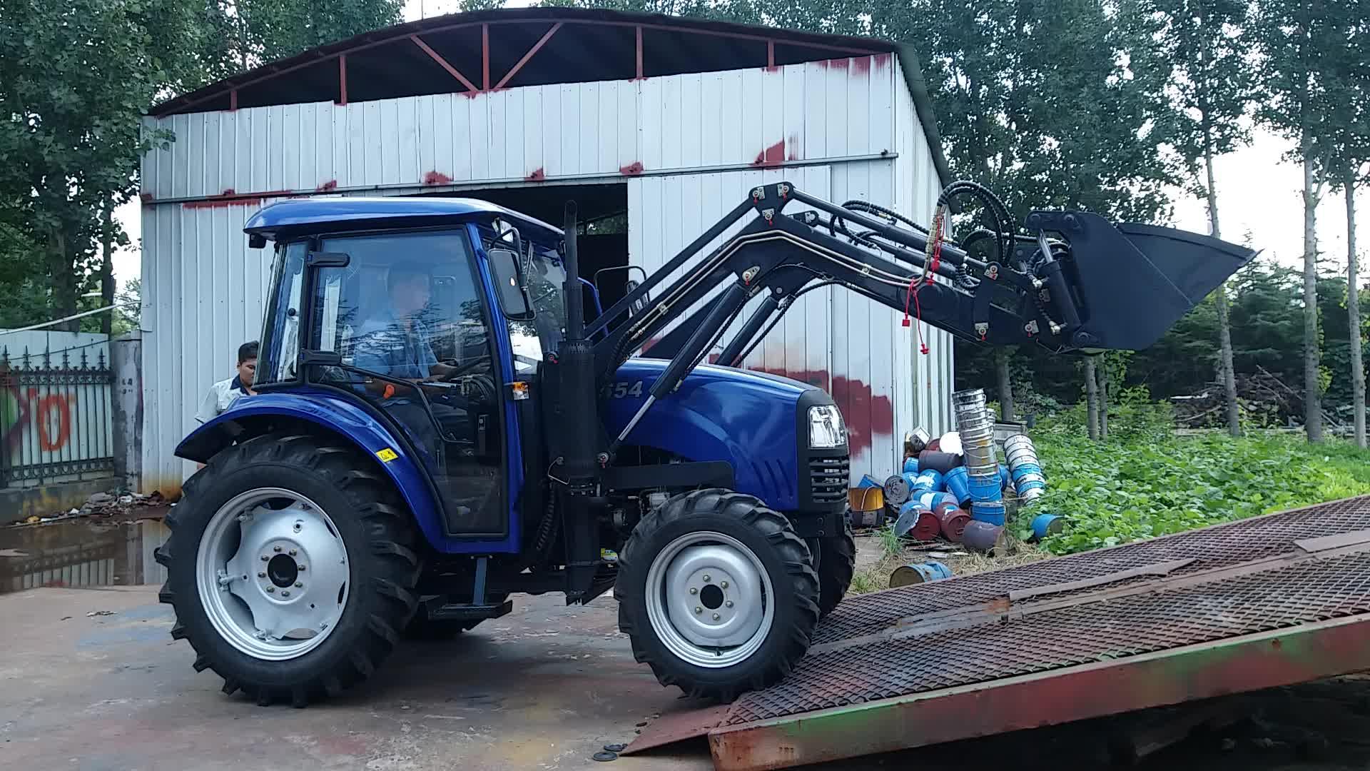 704 70HP trung quốc giá rẻ trang trại bãi cỏ máy kéo với kết thúc trước bộ nạp và backhoe