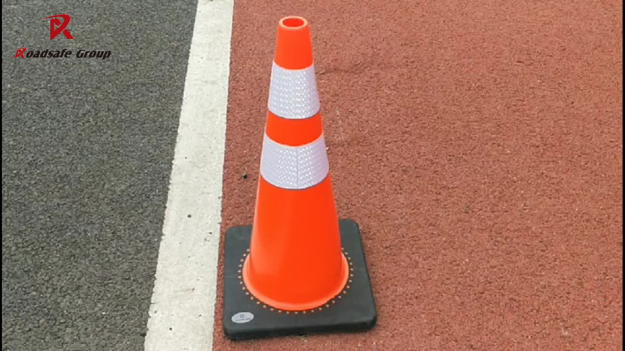 Good Quality Traffic Safety Plastic Road Dividers  PVC  Road Traffic Cones