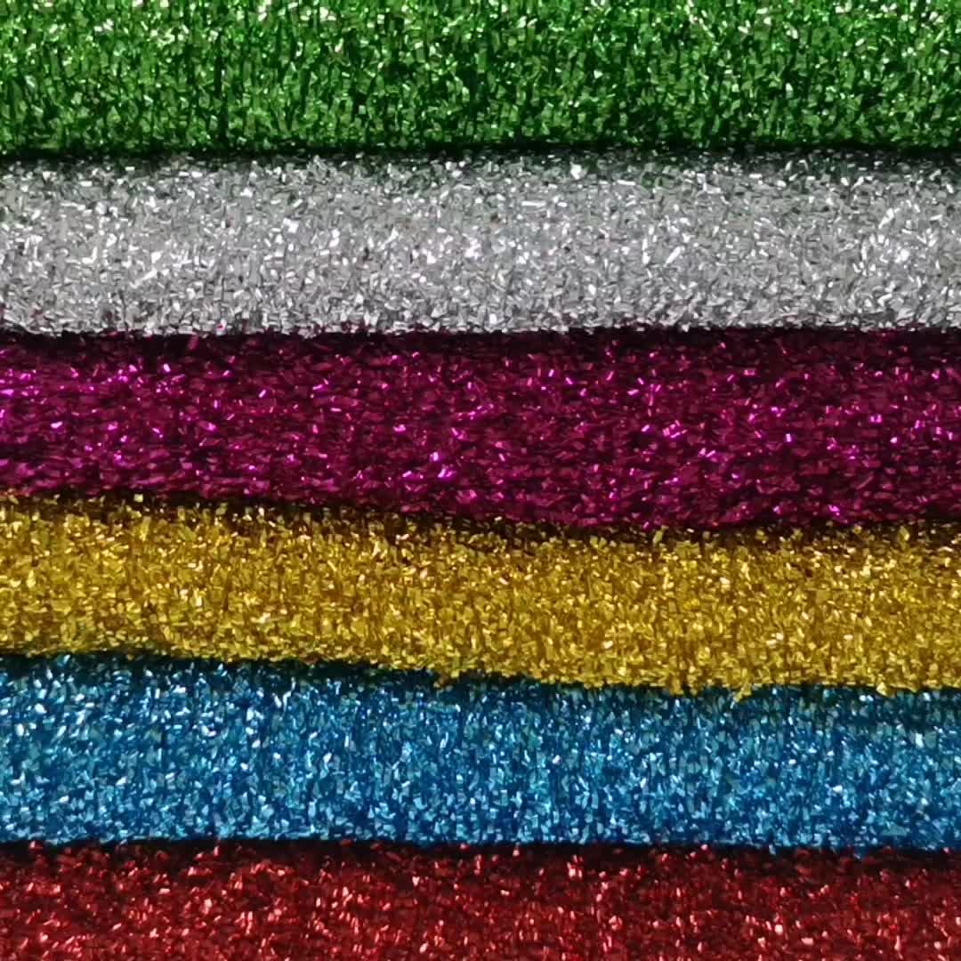 Spons lurex knit metallic stof voor Kerst decoratie